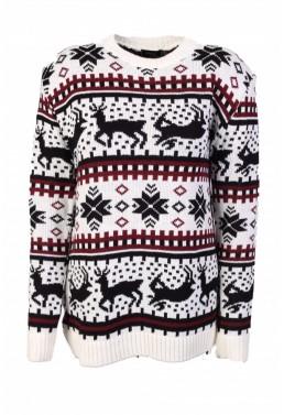 """Moteriškas megztinis """"Žiemos Pasaka Baltas"""""""