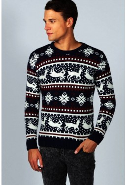 """Vyriškas megztinis """" Žiemos Pasaka Juodas"""""""